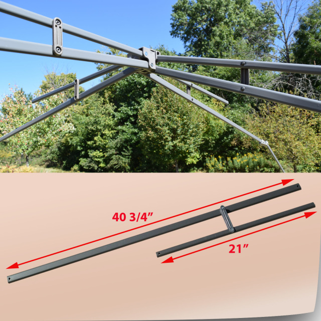 Coleman 13u0027 x 13u0027 Shelter Instant Canopy Gazebo UPPER ROOF POLE TRUS Bars Parts for Model 2000023729 & Coleman 13u0027 x 13u0027 Straight Leg Model 2000023729