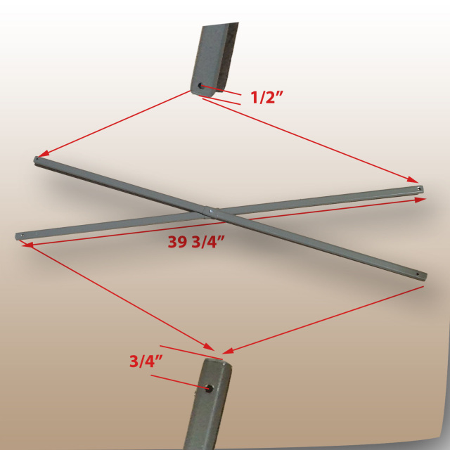 Coleman 13u0027 x 13u0027 Straight Leg Instant Canopy Gazebo SIDE TRUSS Bar Parts for Model 2000023729 & Coleman 13u0027 x 13u0027 Straight Leg Model 2000023729