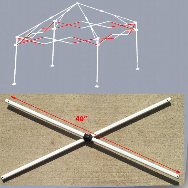 E Z Up Envoy 10 X10 Instant Canopy Gazebo Side Truss Bars