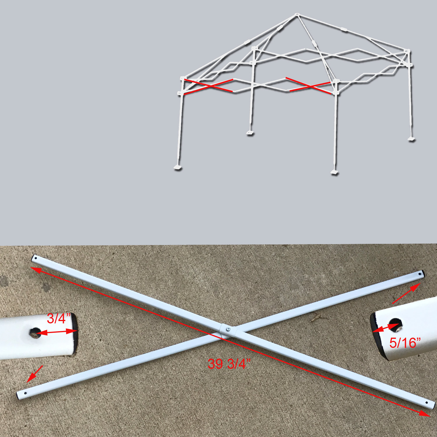 Coleman 10 X 10 Canopy Gazebo Side Truss Bar Replacement