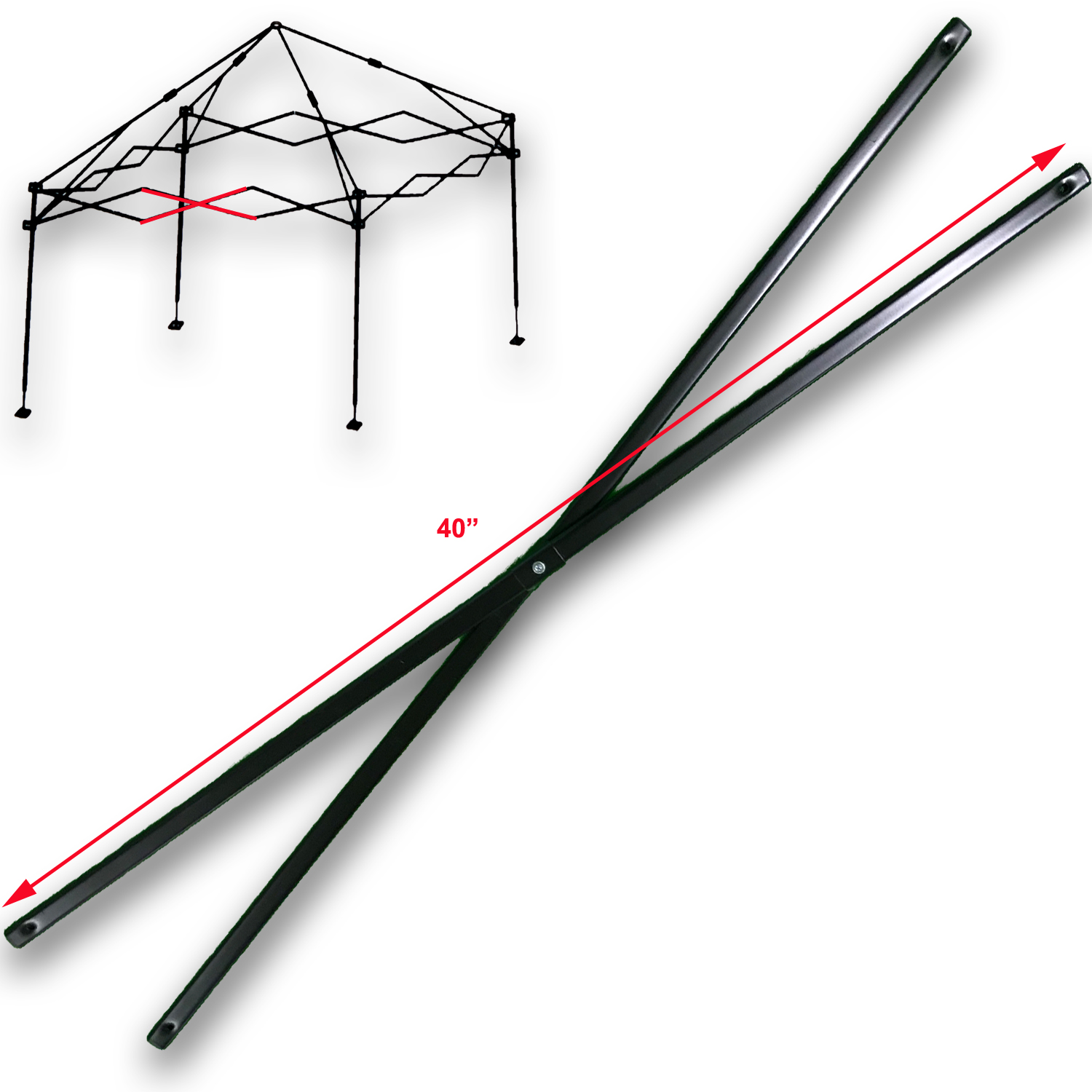 Ozark Trail Coleman First Up 10 X 10 Canopy Gazebo MIDDLE TRUSS Bar  Replacement Parts